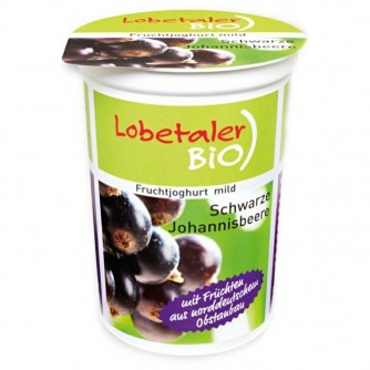 Jogurt z czarną porzeczką 3,7% Lobetaler BIO 150g
