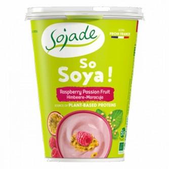 Jogurt sojowy z maliną i marakują Sojade 400g