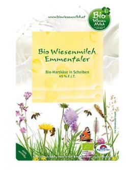 Emmentaler w plasterkach 100 g BIO Wiesenmilch