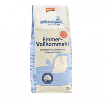 Mąka razowa z pszenicy płaskurki 500 g Spielberger Mühle