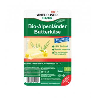 Ser w plasterkach Butterkäse bez laktozy 150 g Andechser Natur