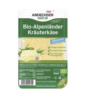 Ziołowy ser maślany bez laktozy w plasterkach 150 g Andechser Natur