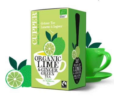 Zielona herbata limonka i imbir Cupper Teas 20x1,75g