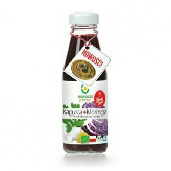 Ekologiczny sok kiszony czerwona kapusta + moringa Bio Food 300ml