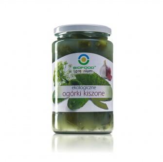 Ekologiczne ogórki kiszone Bio Food 770ml