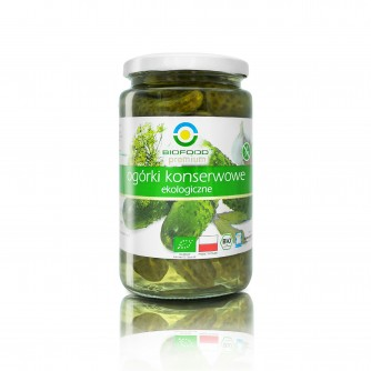 Ekologiczne ogórki konserwowe Bio Food 770ml