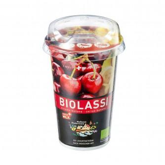 Napój Lassi - Banan i wiśnia Molkerei Biedermann 230ml