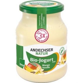 Jogurt waniliowy z mango 3,7% Andechser Natur 500g