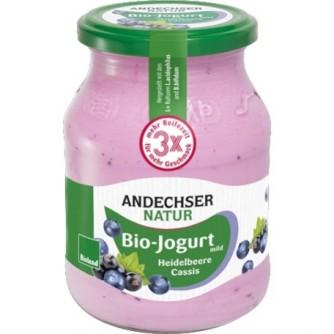 Jogurt jagodowy z czarną porzeczką 3,7% Andechser Natur 500g