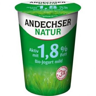 Jogurt naturalny odtłuszczony 1,8% Andechser Natur 500g
