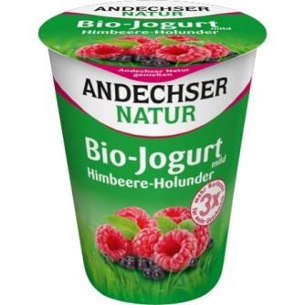 Jogurt malinowy z czarnym bzem 3,7% Andechser Natur 500g