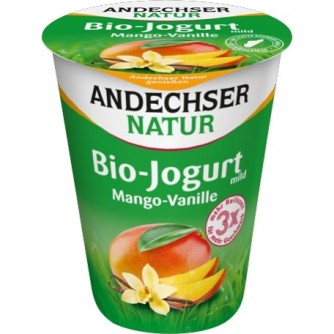Jogurt waniliowy z mango 3,7% Andechser Natur 400g
