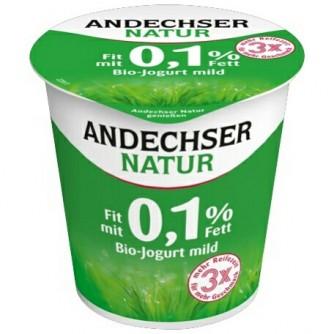 Jogurt naturalny odtłuszczony 0,1% Andechser Natur 500g
