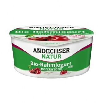 Jogurt śmietankowy z wiśniami 10% Andechser Natur 150g