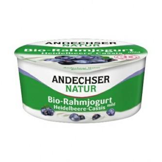 Jogurt śmietankowy z jagodą i czarną porzeczką 10% Andechser Natur 150g