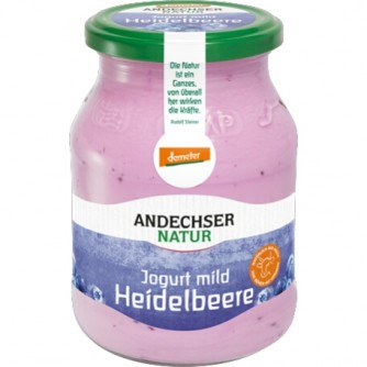 Jogurt jagodowy Andechser Natur 500g