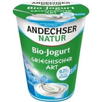 Jogurt grecki naturalny 0,2% Andechser Natur 400g