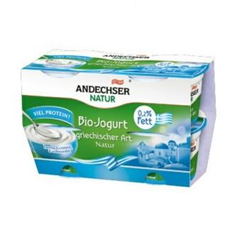 Jogurt grecki naturalny 0,2% Andechser Natur 4x100g