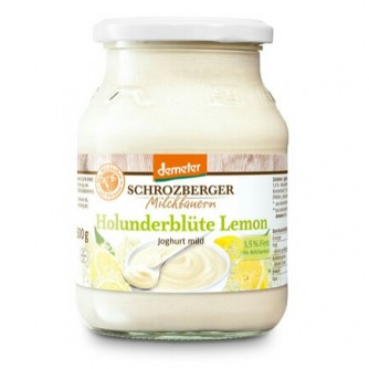 Jogurt sezonowy z dzikim bzem i cytryną 3,5% Schrozberger Milchbauern 500g