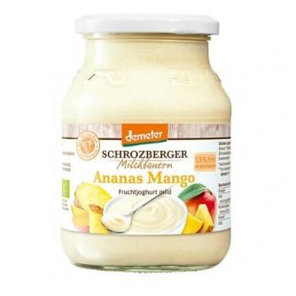 Jogurt sezonowy z ananasem i mango 3,5% Schrozberger Milchbauern 500g