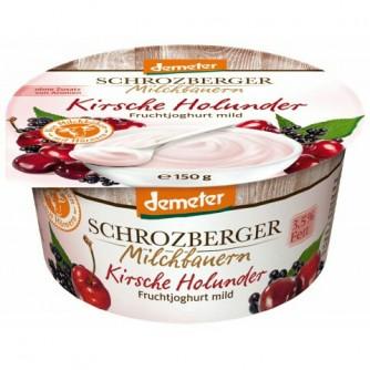 Jogurt wiśniowy z czarnym bzem 3,5% Schrozberger Milchbauern 150g